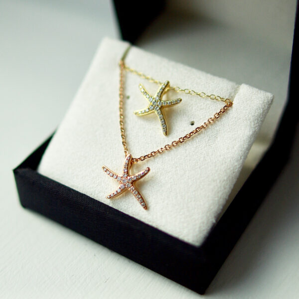 Diamond Set Starfish Pendant