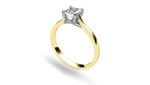 Catherine Princess Yellow Gold Solitaire Engagement Ring