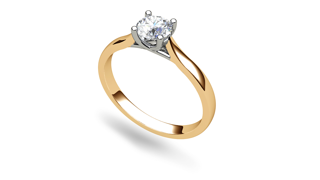 Catherine Round Rose Gold Solitaire Engagement Ring