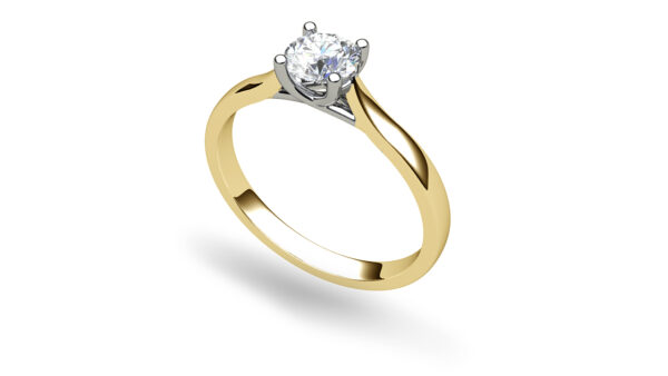 Catherine Round Yellow Gold Solitaire Engagement Ring