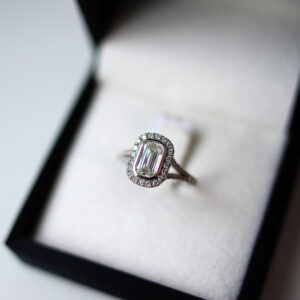 Combination Cluster Cushion Engagement Ring