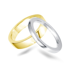 Court Top Flat Court Wedding Band