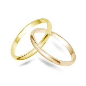 D Shape Wedding Bands