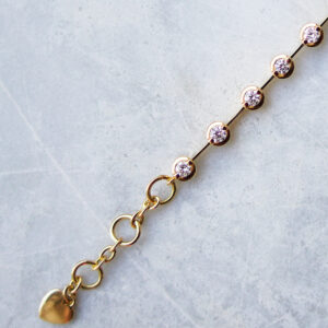 Diamond & Bar Set Tennis Bracelet in Yellow Gold