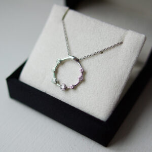 Diamond Bubble Necklace White