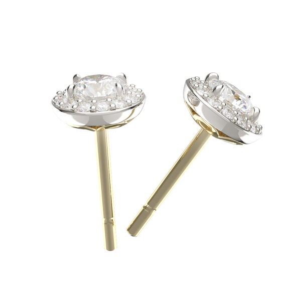 Round Brilliant Cut Diamond Cluster Studs