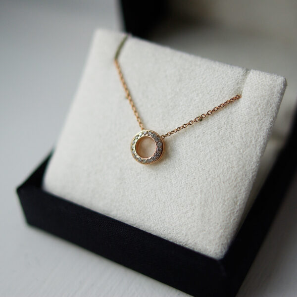 Rose Gold Diamond Set Circle