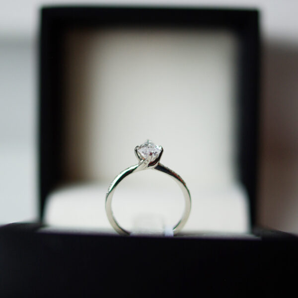 Pear Cut Diamond Elizabeth Engagement Ring