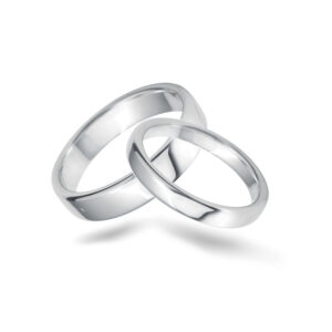 flat-softened-edges-platinum- set- wedding -bands