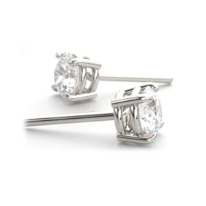 Four Claw Platinum Diamond Studs