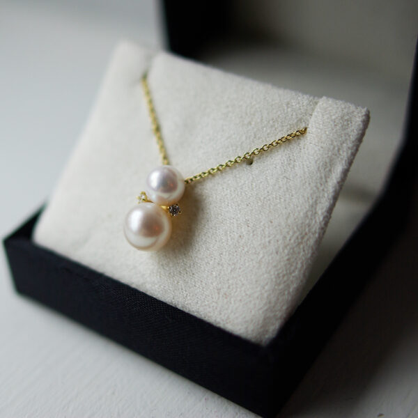 Freshwater Pearl Drop With Diamonds