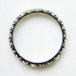 Full Set Cut Down Diamond Eternity Ring Flat