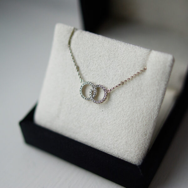 Interlocked Diamond Set Pendant