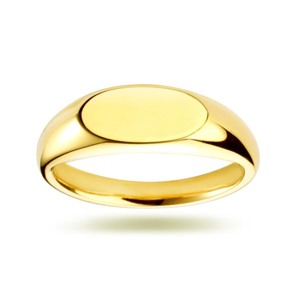 Long Oval Signet Yellow