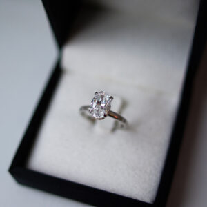 Oval Brilliant Cut Diamond Solitaire Engagement Ring