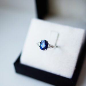 Oval Brilliant Cut Sapphire Trio Ring