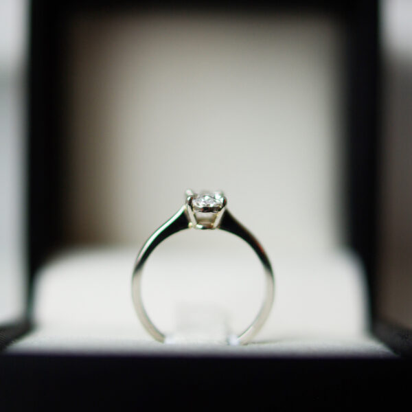 Oval Claw Set Solitaire In Platinum