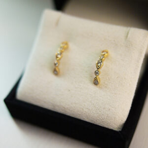 Illusion Pear Diamond Earrings