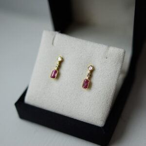 Pink Sapphire And Diamond Drop Earrings