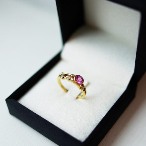Oval Pink Sapphire Bubble Collection