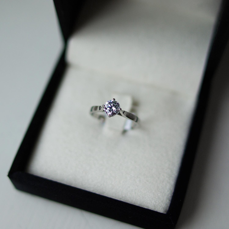 Round Brilliant Cut Diamond Solitaire Engagement Ring Platinum With Four Claws Juliette