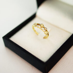 Yellow Sapphire Bubble Ring Two Row Bubble Collection